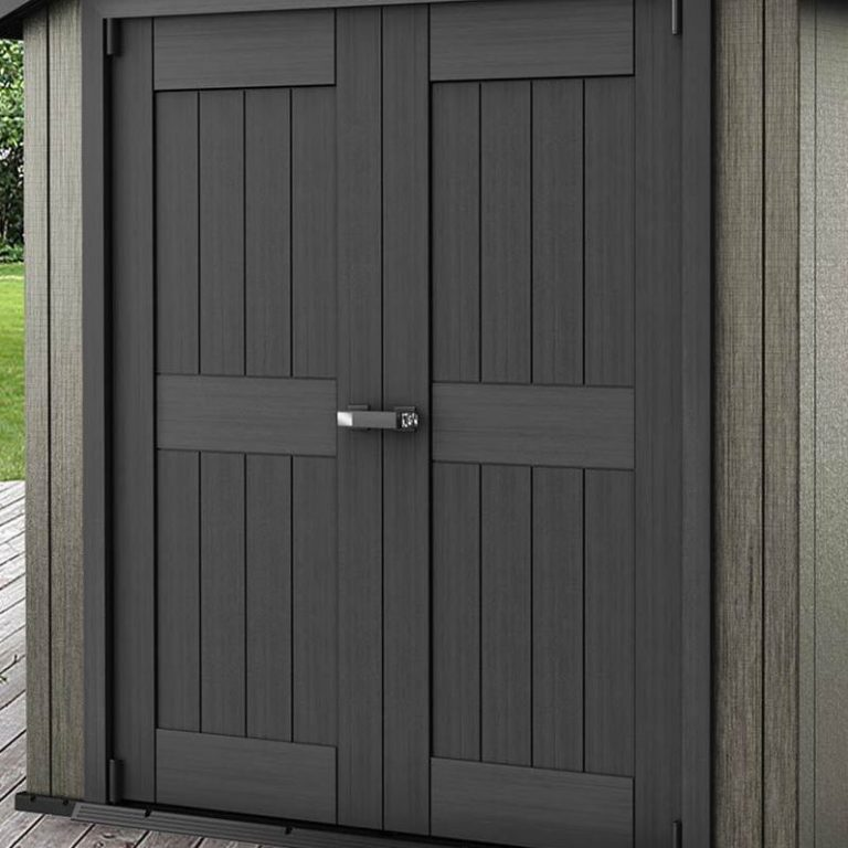 Charcoal Shaded Rot-Resistant Doors