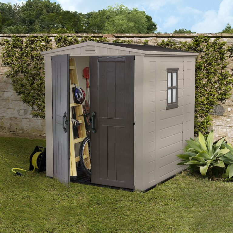 Budget-Friendly Plastic Sheds 6x6 - Keter Factor 6 x 6 ft