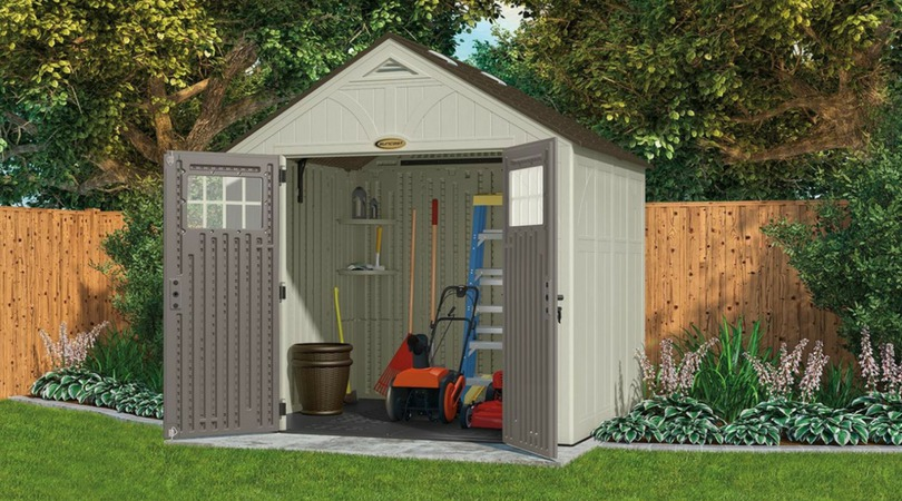 Rot-Proof Plastic Garden Storage Sheds